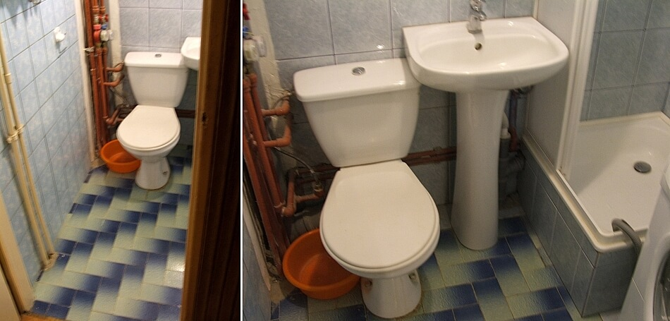 stara łazienka przed remontem