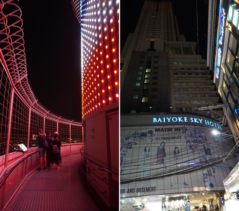 Bangkok atrakcje Baiyoke Hotel Sky Bar drinki świeczki Taras widokowy HAART.pl blog diy zrób to sam
