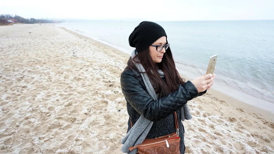 Sopot zimą. Plaża, Hania Kozłowska. HAART.pl blog diy