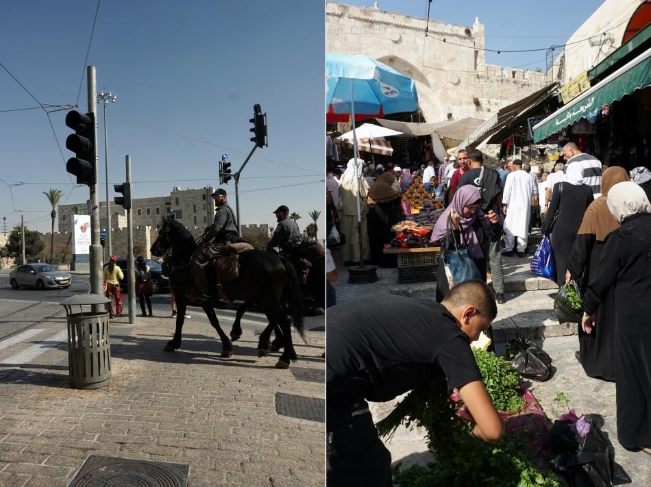 Jerozolima targ w małych uliczkach