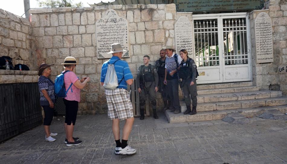 Jerozolima Turyści i wojsko