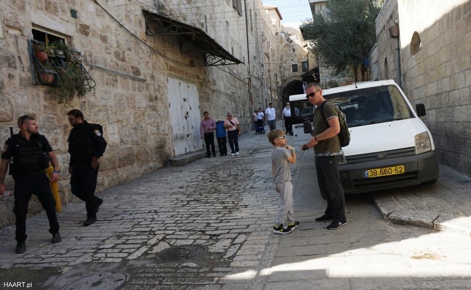 izrael, wojsko w małych uliczkach