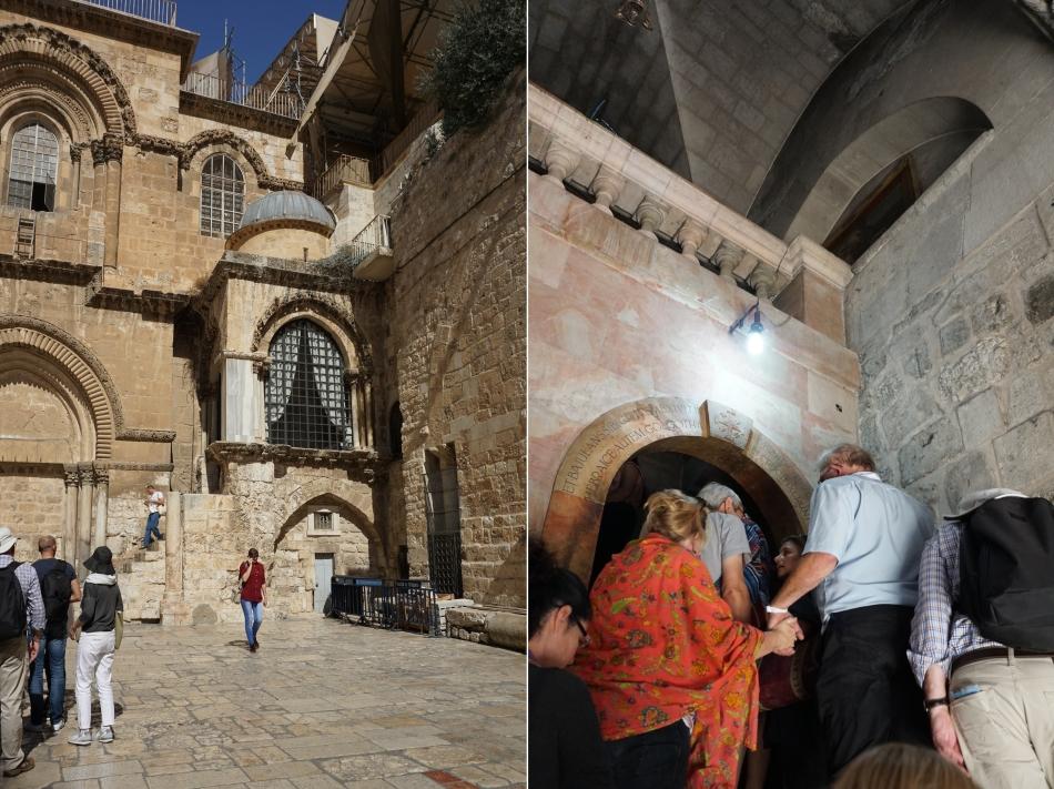 Jerozolima dziedziniec Bazyliki Grobu Pańskiego