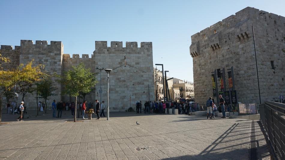 Jerozolima mury przy bramie Jaffa