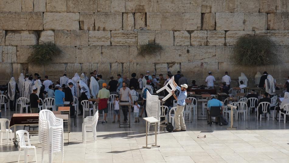 Jerozolima Ściana Płaczu część dla mężczyzn