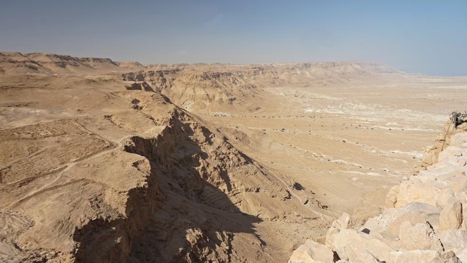 Masada w Izraelu na skraju pustyni