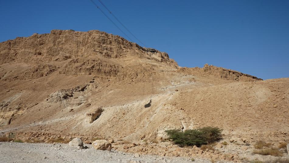 Masada na szczycie płaskowyżu nad Morzem Martwym