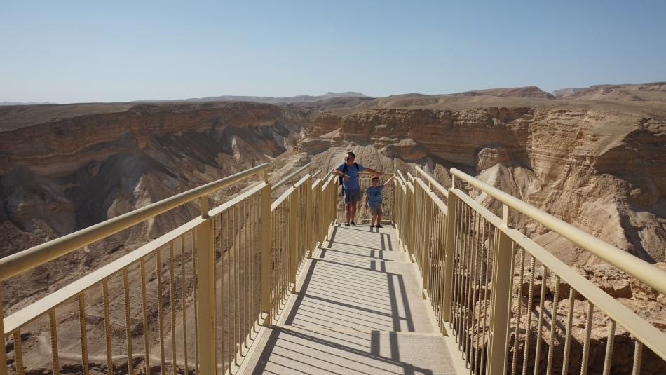 Masada w Izraelu z tarasem widokowym