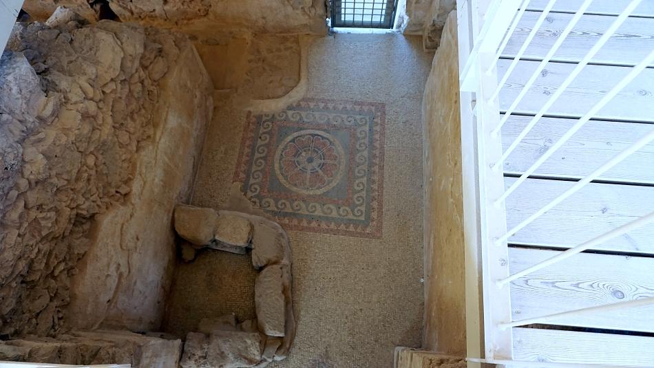 Masada w Izraelu wnętrze pałacu zachodniego