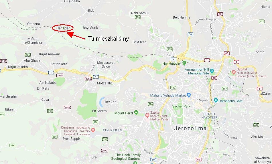 bezpieczenstwo w izraelu mapa google har adar mieszkanie
