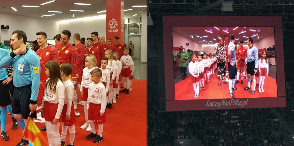 Dziecięca eskorta reprezentacji Polski w meczu Polska Nigeria