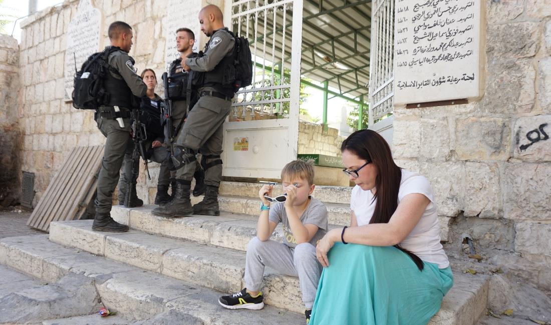 Bezpieczeństwo w Izraelu. Wojsko w Jerozolimie.