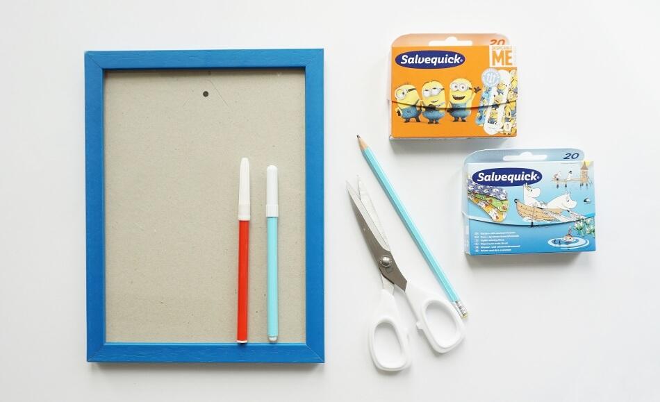 materiały do wykonania tablicy ścieralnej dla dzieci diy