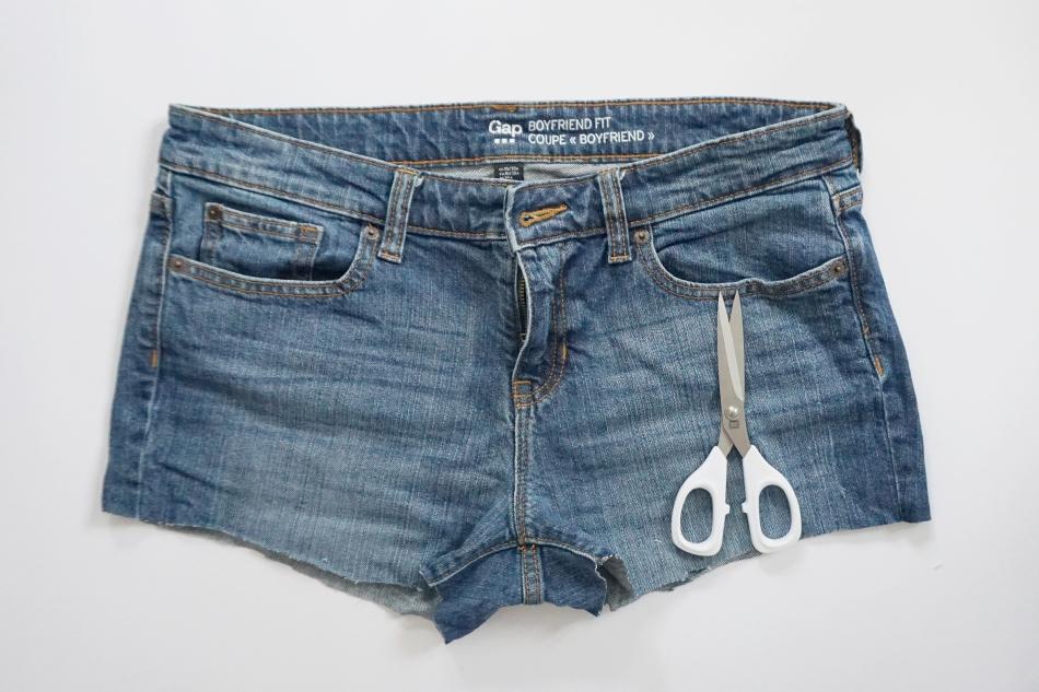 szorty z koronką ze spodni