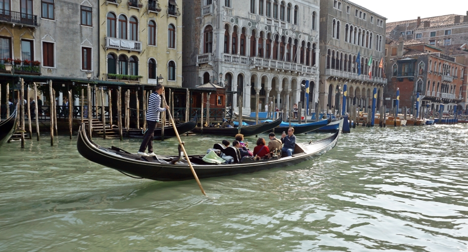 Wenecja gondola Canal Grande