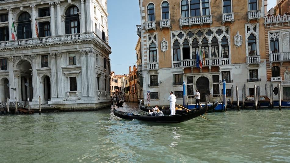 Wenecja Canal Grande i gondole