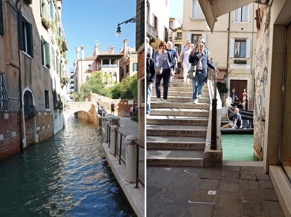 Wenecja mosty i schody