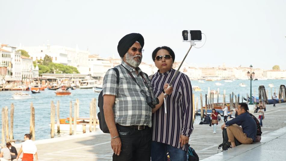 Wenecja turyści z całego świata