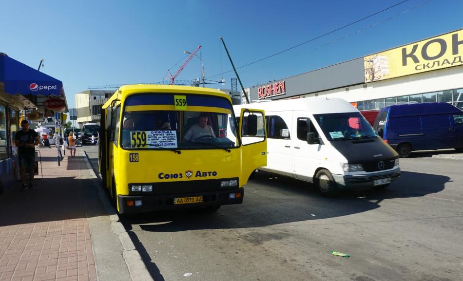 Kijów marszrutka i dworzec autobusowy