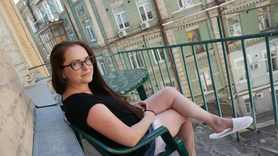 Kijów stare kamienice