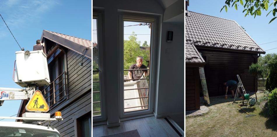 Malowanie starego drewnianego domu