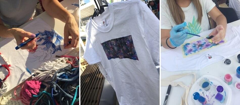 Warsztaty DIY przerabianie ubrań, malowanie na t-shirtach