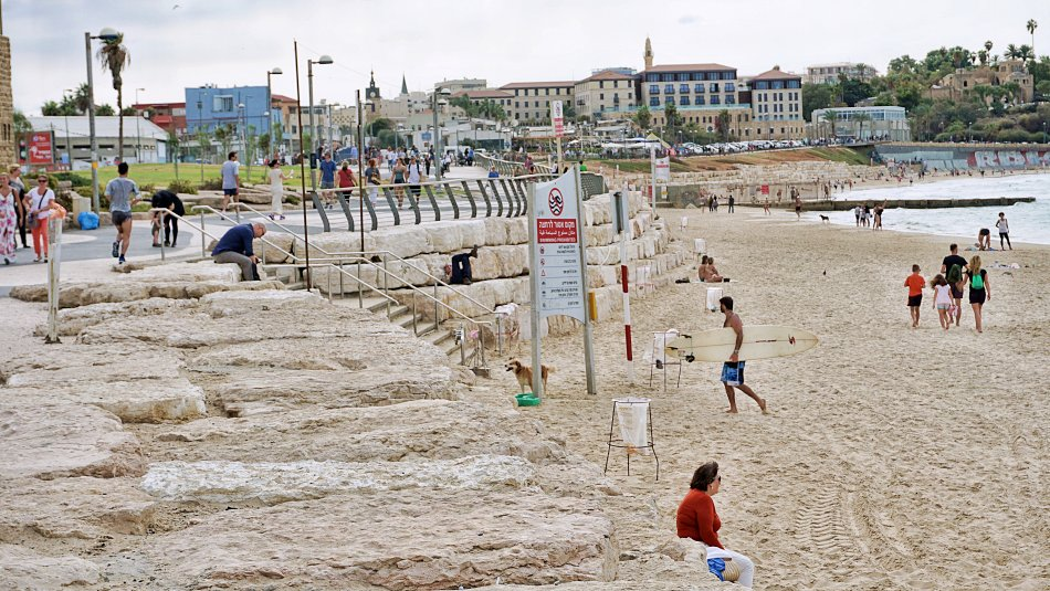 tel aviv jaffa izrael ludzie na plaży