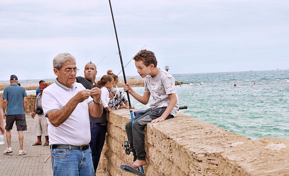 tel aviv jaffa izrael port wędkarz