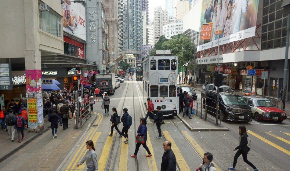 warszawa hong kong tramwaj przejście dla pieszych