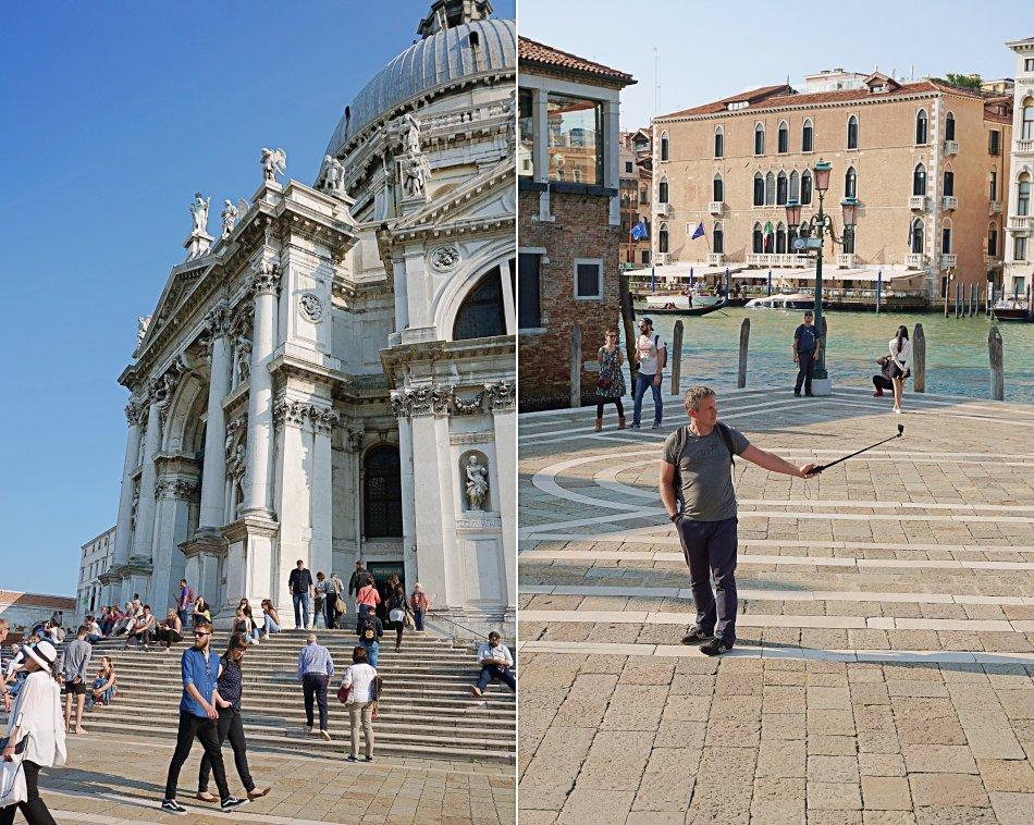 zabytki wenecji wenecja włochy bazylika santa maria della salute turyści