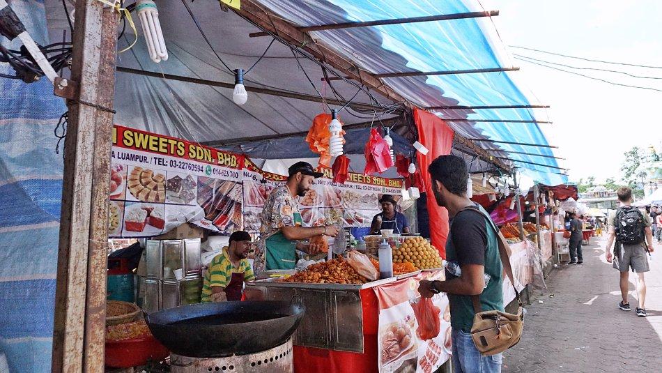 batu caves kuala lumpur malezja street food jedzenie