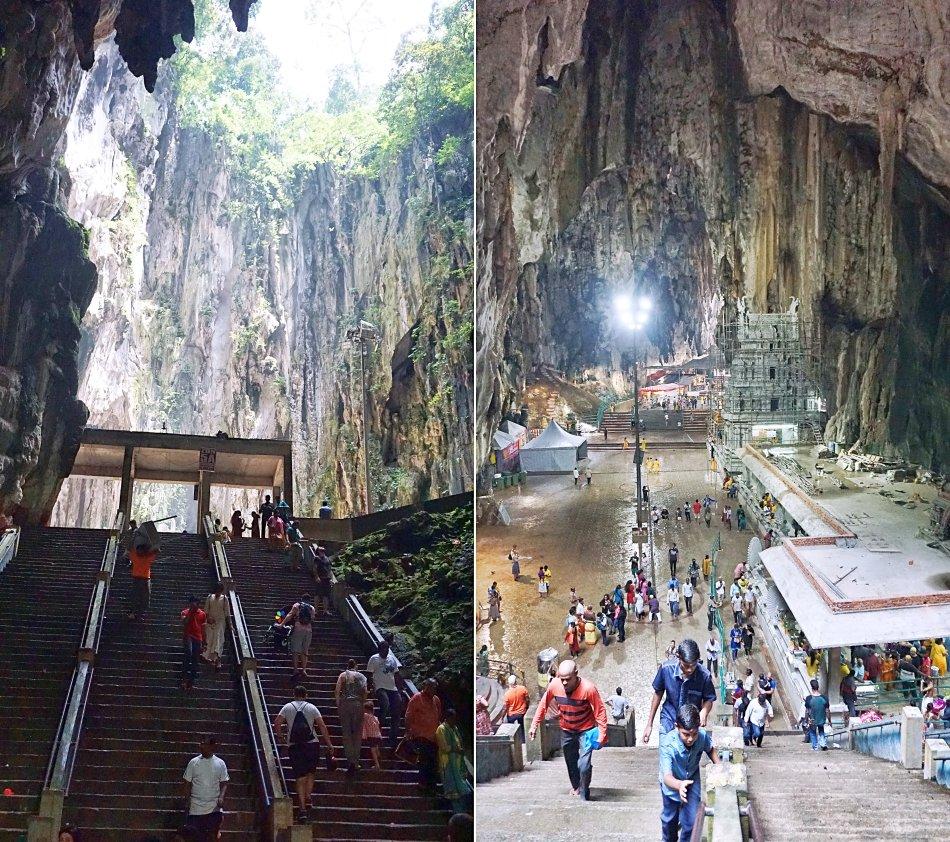 batu caves kuala lumpur malezja temple cave jaskinia katedralna schody