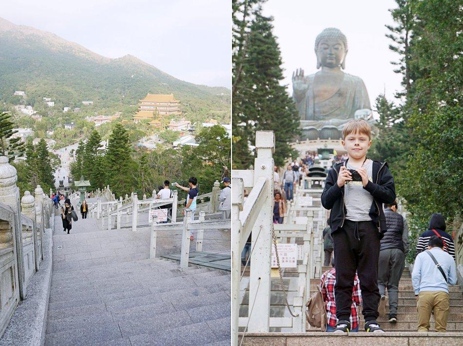ngong ping hong kong lantau budda tian tan turyści schody