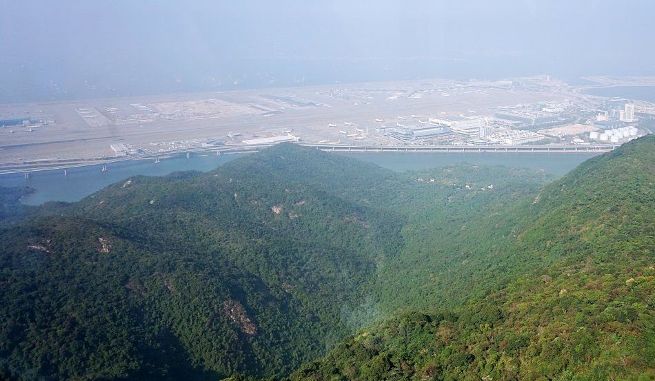 ngong ping hong kong lantau lotnisko panorama