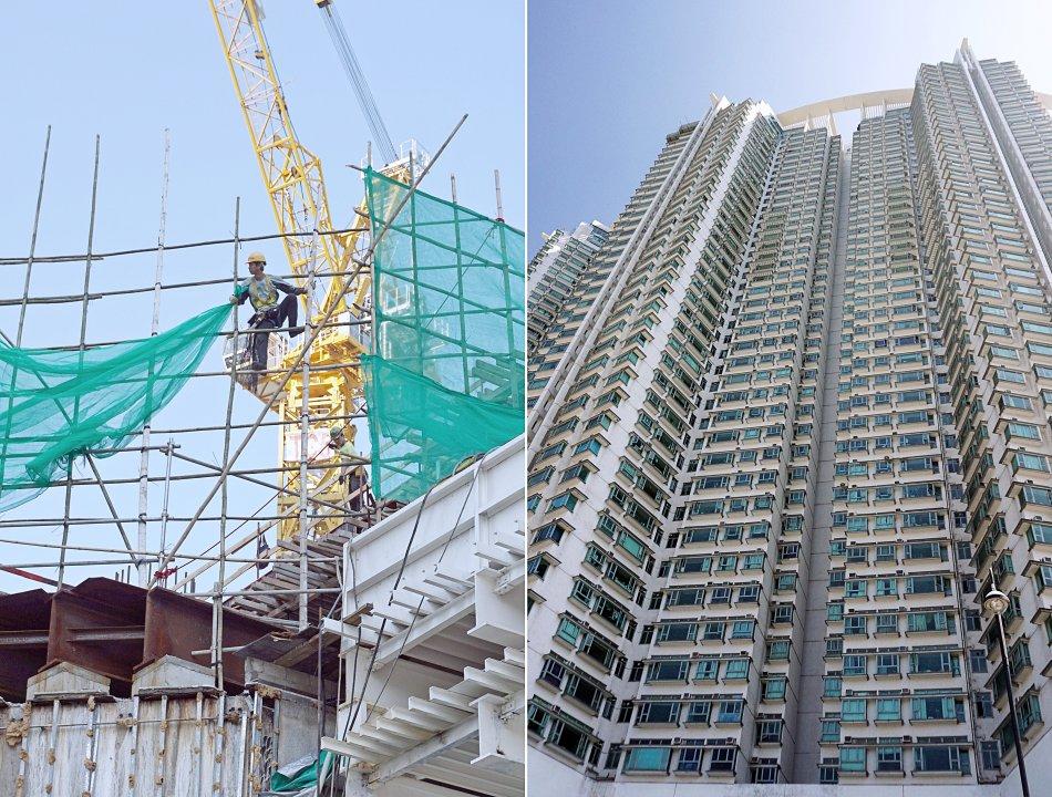 ngong ping hong kong tung chung wieżowce budowa