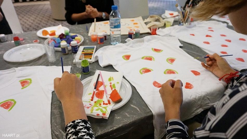 Warsztaty DIY koszulka z arbuzami