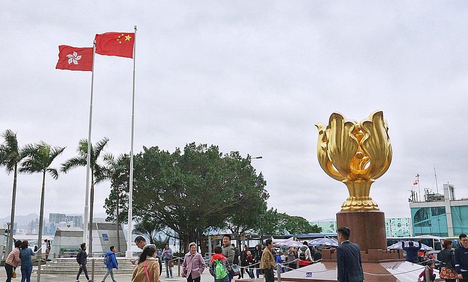zwiedzanie hong kongu golden bauhinia