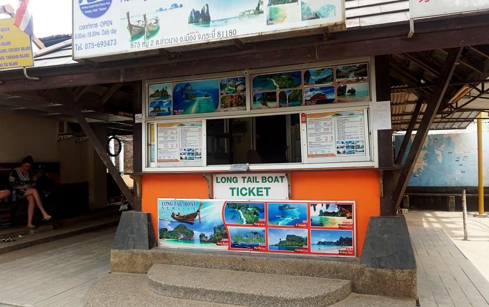 ao nang krabi tajlandia bilety na łódź transport kiosk