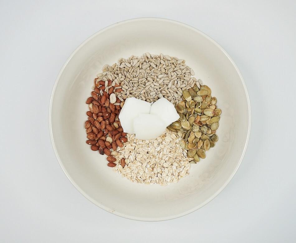 karmnik dla ptaków diy, karma do samodzielnego zrobienia, składniki