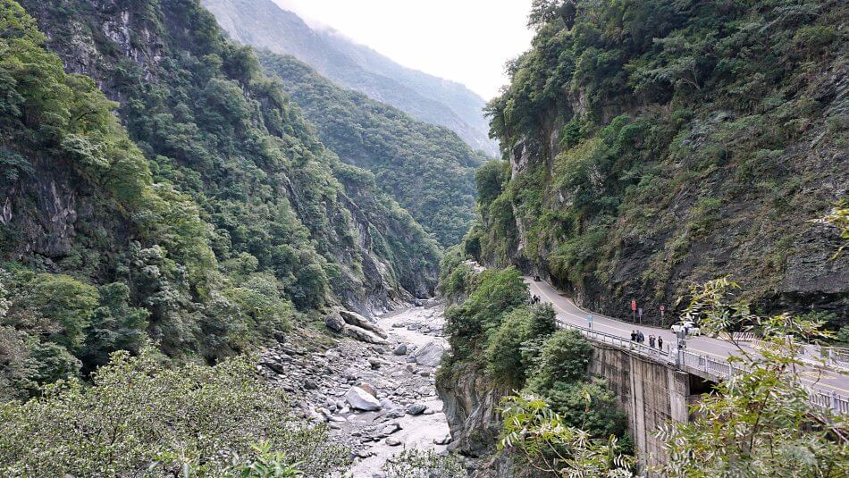 taroko gorge park narodowy national park cimu bridge most landscape panorama