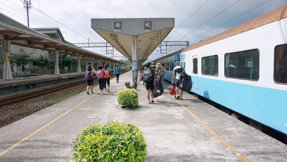 taroko national park gorge park narodowy xincheng train station dworzec kolejowy peron