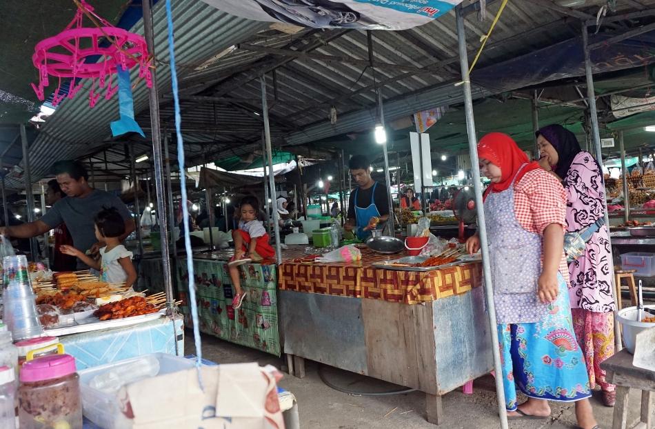 Targ w Krabi w Tajlandii