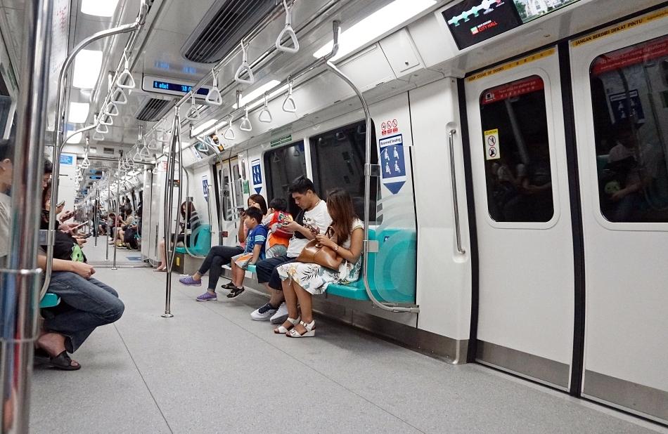 Malezja i Singapur wagon w metrze