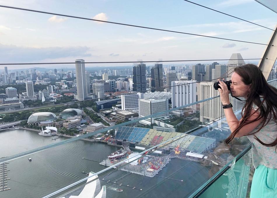 Malezja i Singapur Taras widokowy w Singapurze