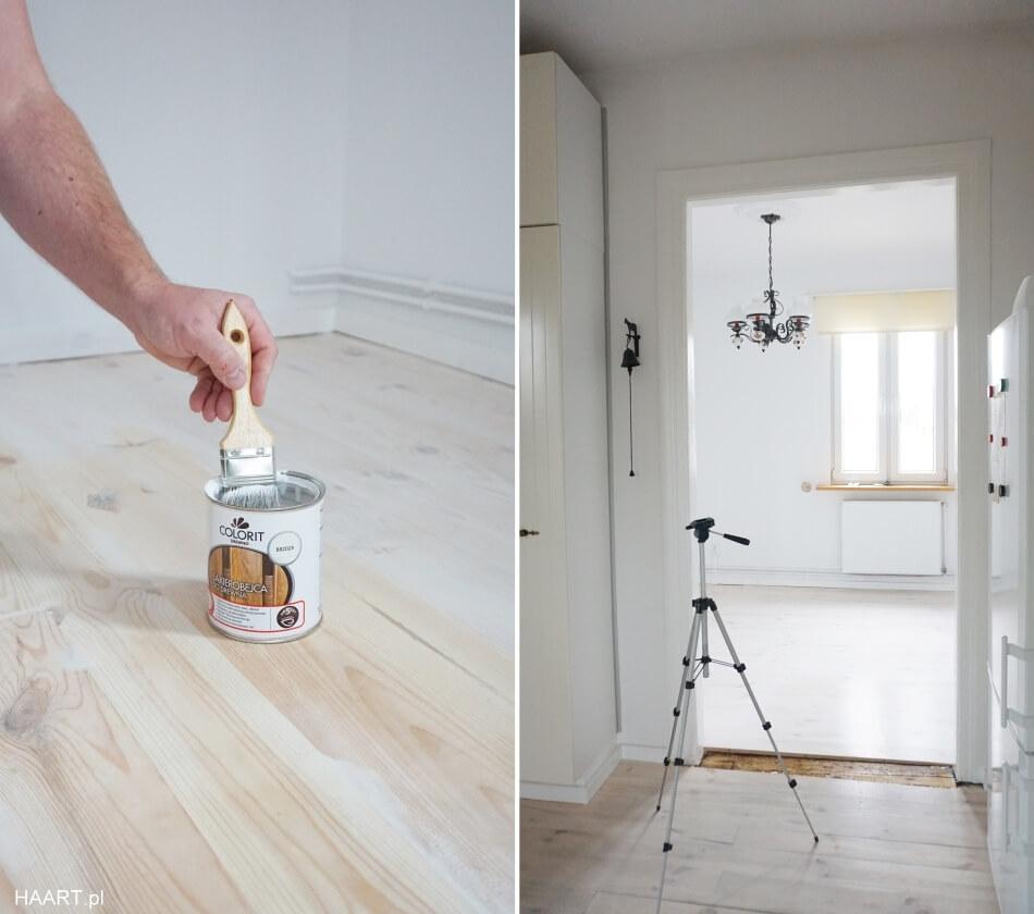 malowanie i lakierowanie drewnianej podłogi