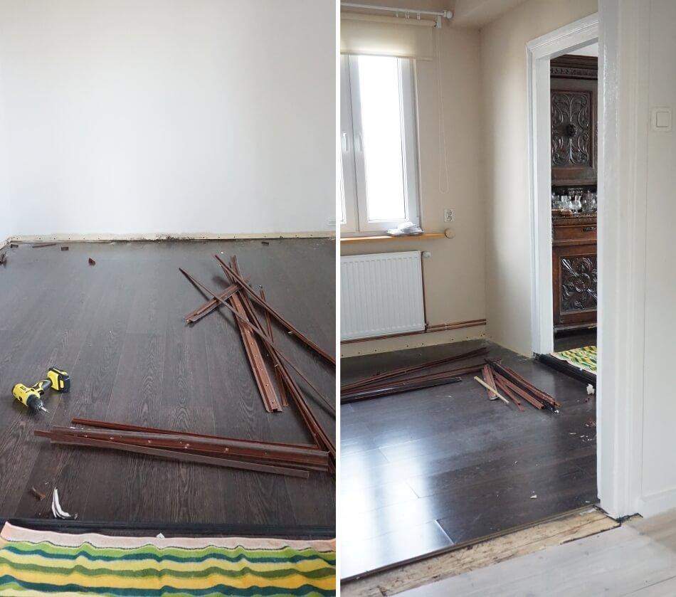 usuwanie paneli podłogowych
