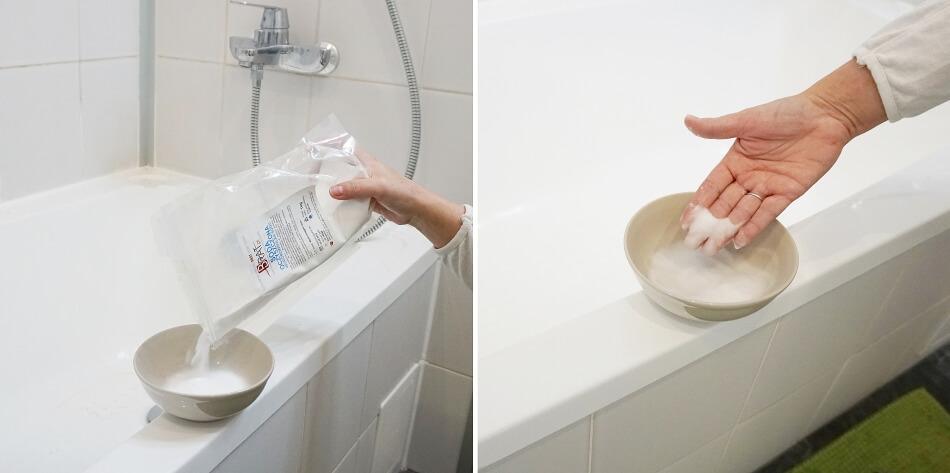 odtłuszczenie i czyszczenie glazury sodą oczyszczoną
