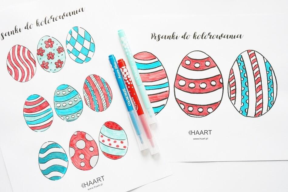 Pisanki do kolorowania diy, bezpłatne szablony do druku dla przedszkolaków