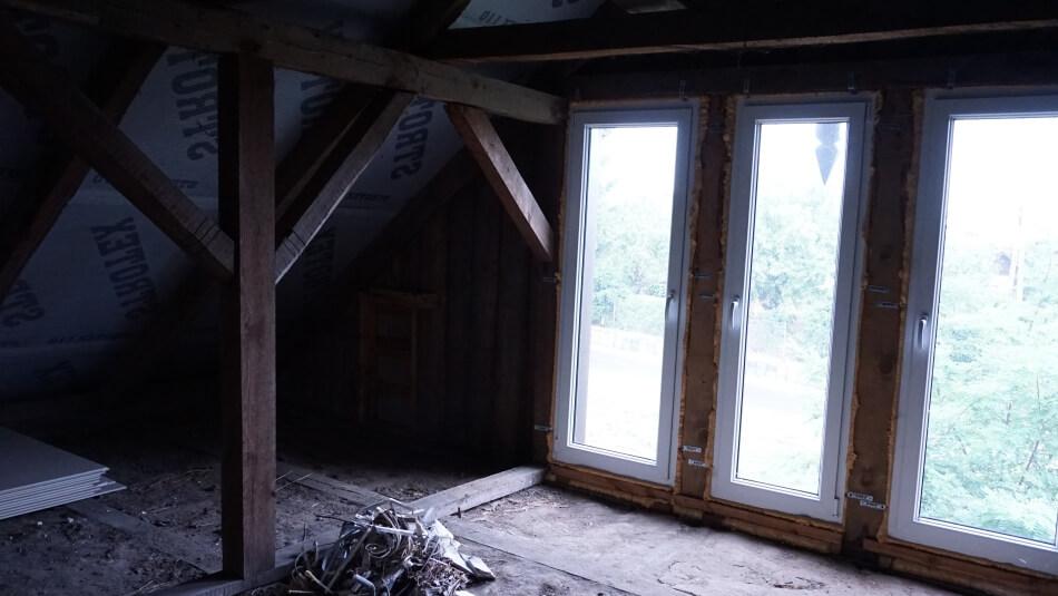 Metamorfoza poddasza wstawianie okien