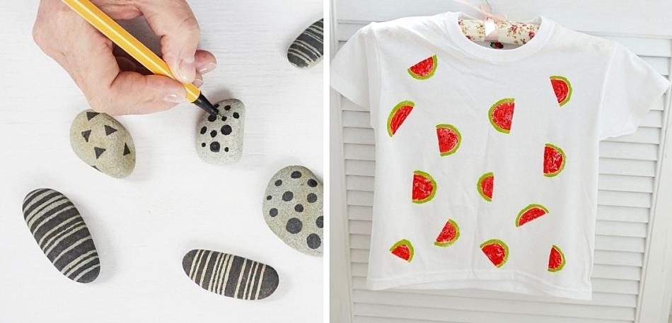 Warsztaty diy dla dzieci. Malowanie koszulek, kamieni, patyków